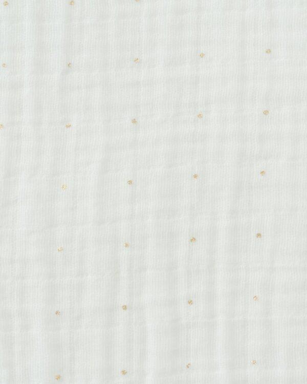 Mussola cotone gold dot