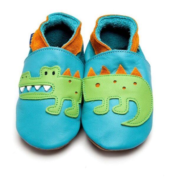 Babbucce Inch Blue Crocodile turquoise