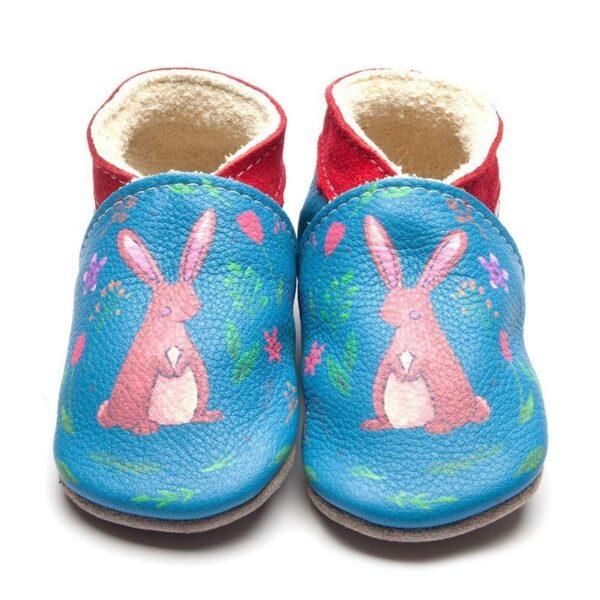 Babbucce Inch Blue Hare print