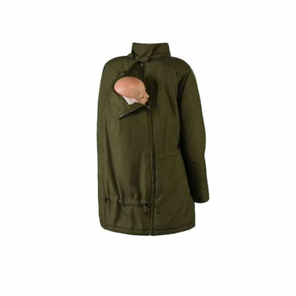 Wombat giacca maternità e per portare wallaby verde