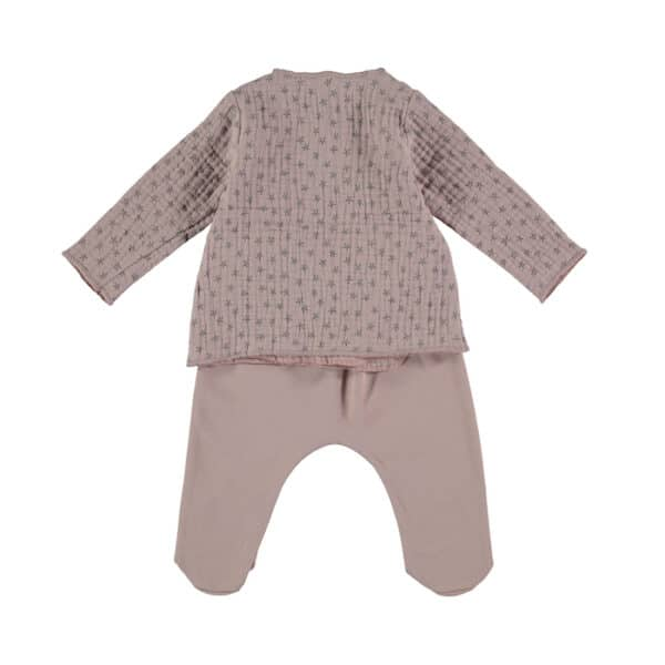 Jacket & Footed Pants Night Stories Pink Babyclic