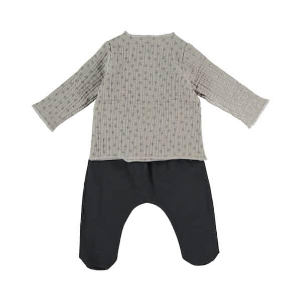 Jacket & Footed Pants Night Stories Stone Babyclic