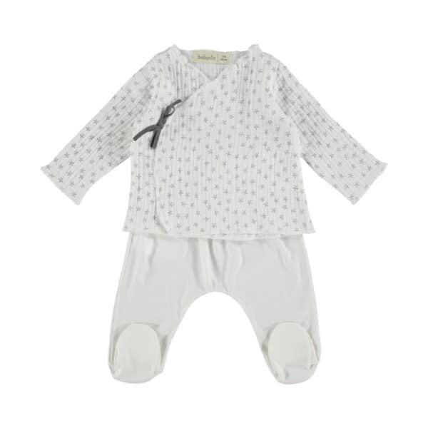 Jacket & Footed Pants Night Stories White Babyclic
