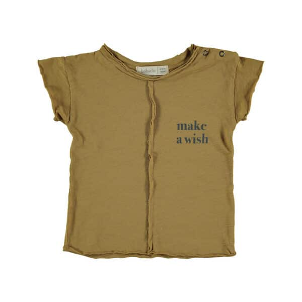 T-shirt Wish Ocher Babyclic