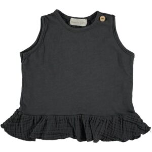 Tank T-shirt Mussel Anthracite Beans