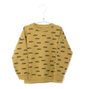 Sweatshirt Fishes Sun Yellow Lotiekids