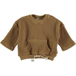 Organic cotton waffled sweatshirt Sergi My Little Cozmo