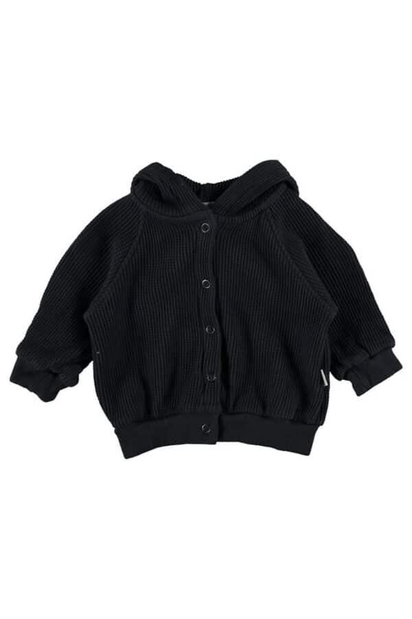 Organic cotton waffled hoodie Jean My Little Cozmo