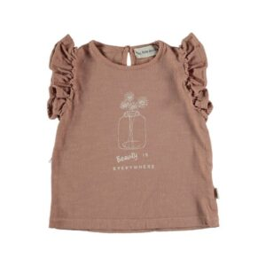 Organic flame ruffled t-shirt Josie My Little Cozmo