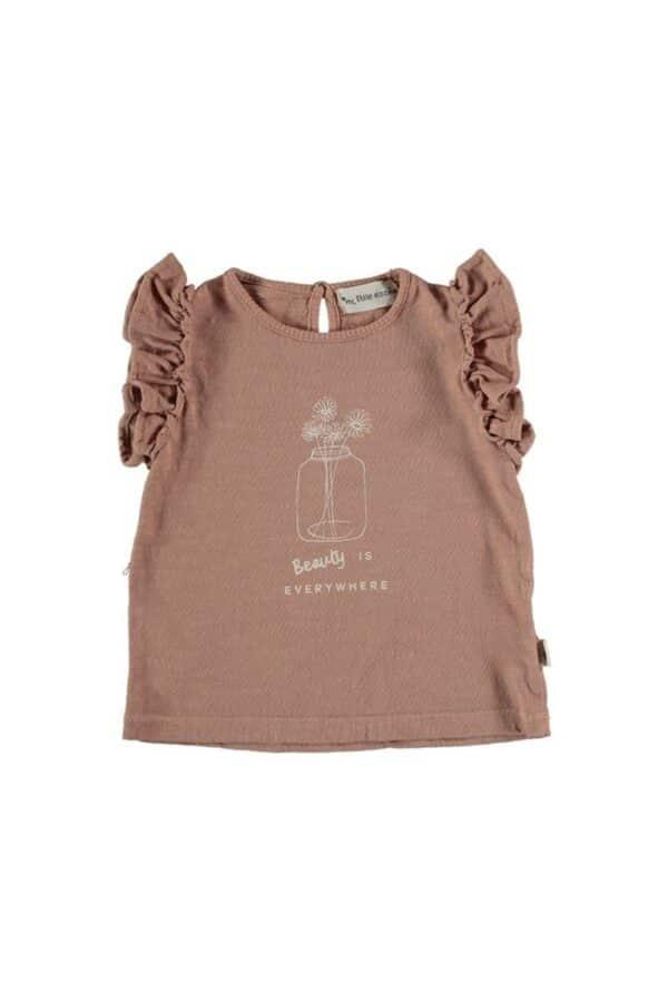 Organic flame ruffled t-shirt Josie My Little Cozmo