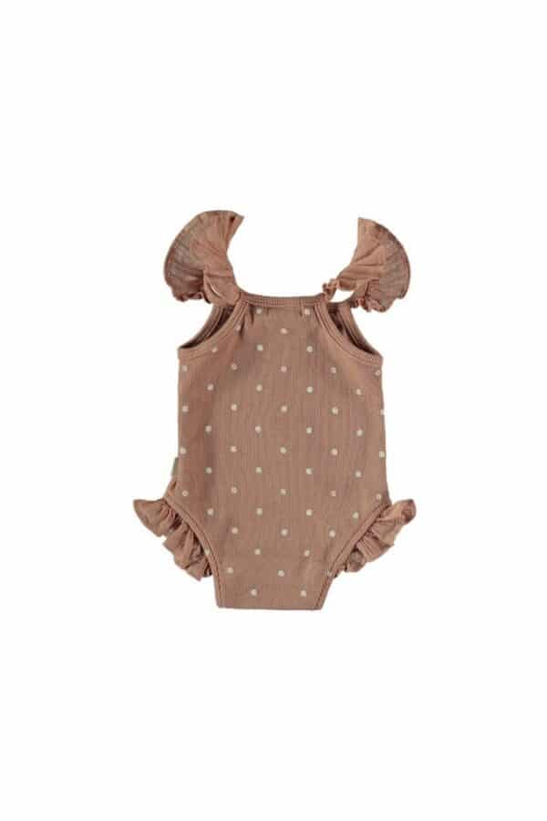 Organic ribbed dotted bodysuit Ellie My Little Cozmo