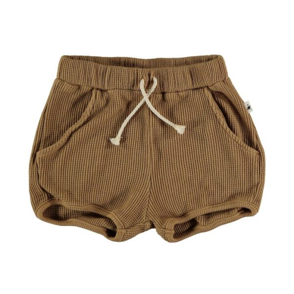 Organic cotton waffled shorts Max My Little Cozmo