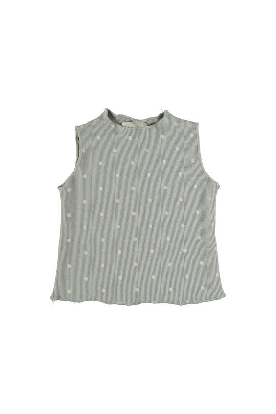 Organic ribbed dotted tank Stella My Little Cozmo