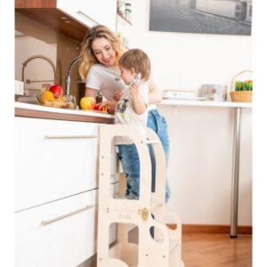 Torre Montessoriana convertibile c/ruote ToddlerInFamily