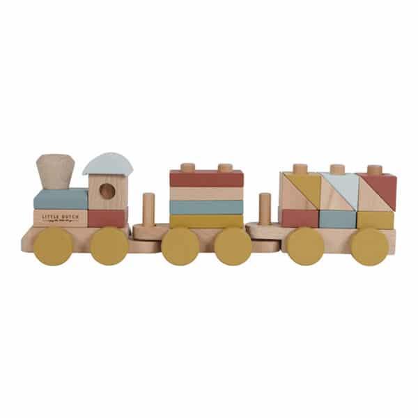 trenino in legno Wooden Stacking Train pure&nature Little Dutch