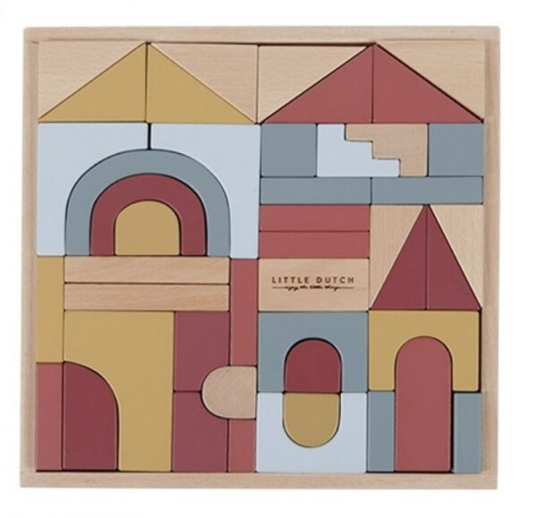 cubetti da costruzione Wooden Building Blocks pure&nature Little Dutch