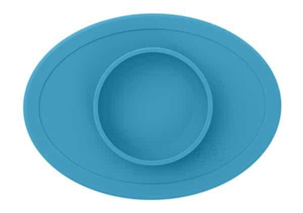 Tovaglietta con Ciotola in Silicone Tiny Bowl Azzurro EzPz