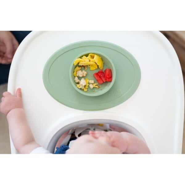 Tovaglietta con Ciotola in Silicone Tiny Bowl Salvia EzPz