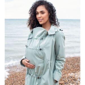 Giacca a vento maternità e Babywearing per portare Numbat Go Mint