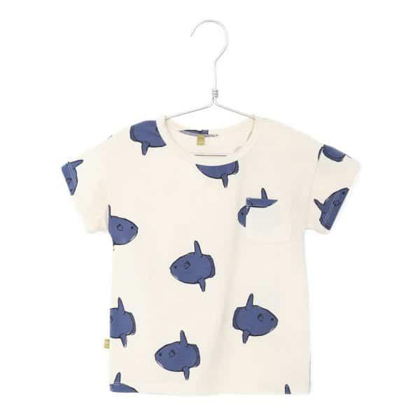 T-shirt Moonfishes Off White Lotiekids