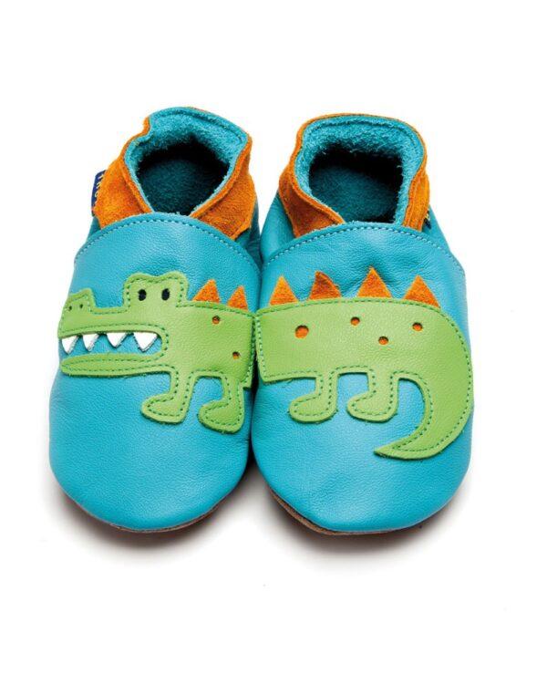 Babucce Crocodile Turquoise Inch Blue