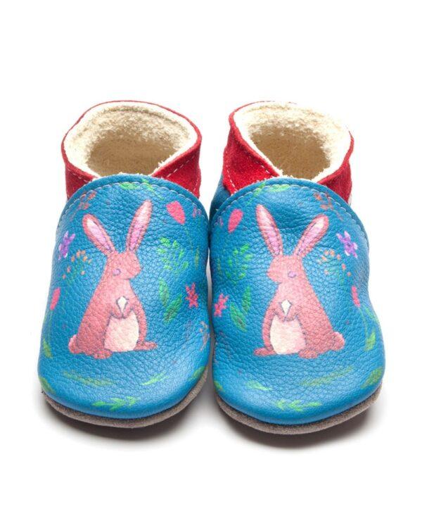 Babucce Hare Print Inch Blue