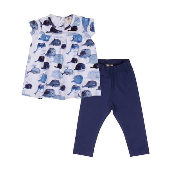 Babydoll & Leggins Baby Whales Walkiddy