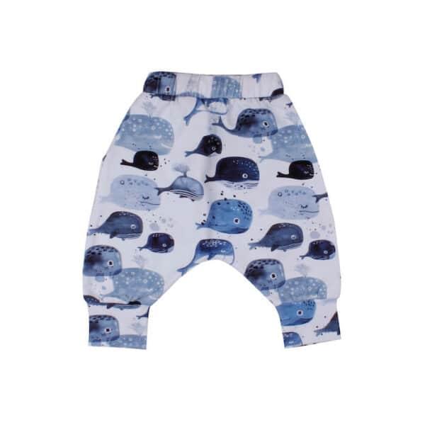 Pantaloni Baggy Baby Whales Walkiddy