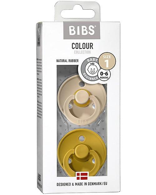 Set di 2 Ciucci Colour Vaniglia e Mostarda Bibs