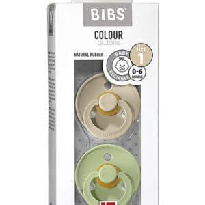 Set di 2 Ciucci Colour Sabbia e Verde Pistacchio Bibs