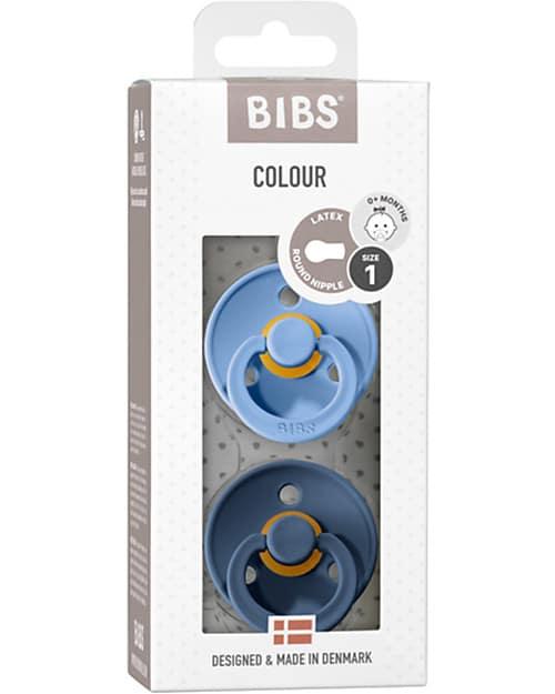 Set di 2 Ciucci Colour Blu Cielo e Blu Acciaio Bibs