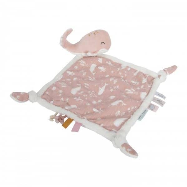 Doudou Whale ocean pink Little Dutch