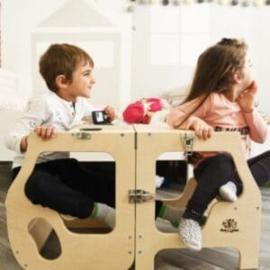 Torre Montessoriana convertibile doppia seduta Babywood