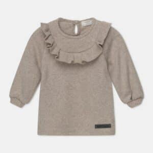 Ruffle Bib Knit Baby Dress Carol My Little Cozmo