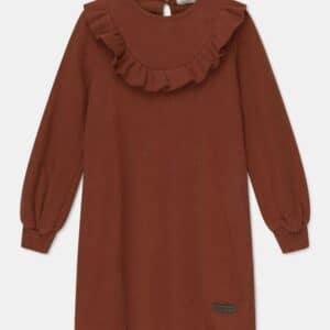 Ruffle Bib Knit Dress Carol My Little Cozmo