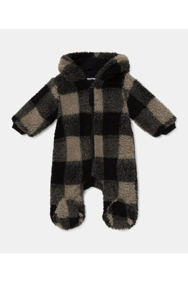 Plaid Sherpa Baby Bunting Cody My Little Cozmo