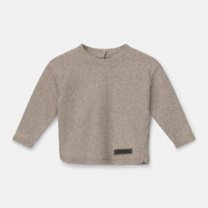 Knit Baby Sweater Fionn Beige My Little Cozmo