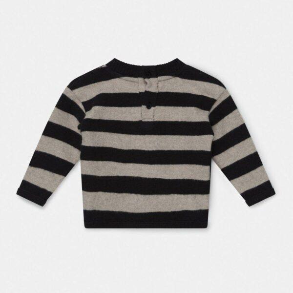 Knit Baby Sweater Fionn Black Riga My Little Cozmo