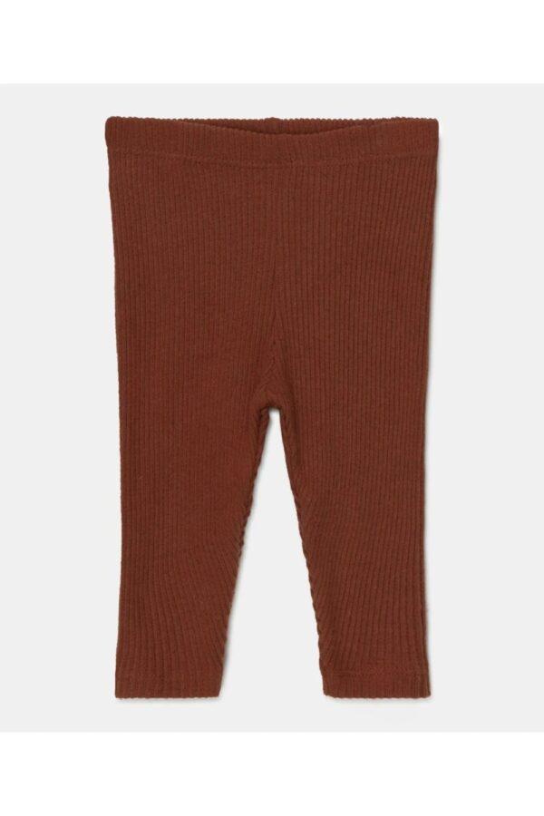 Rib Knit Baby Leggins Gray Brown My Little Cozmo